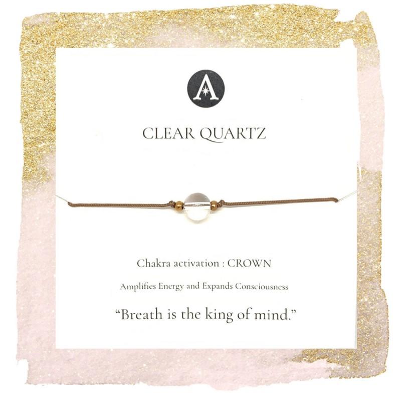 Clear Quartz Chakra Bracelet