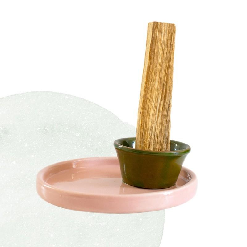 Rose n Grass - Palo Santo holder, large