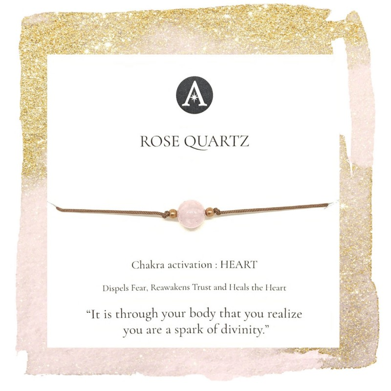 Rose Quartz Chakra Bracelet