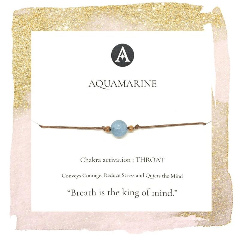 Aquamarine Chakra Bracelet