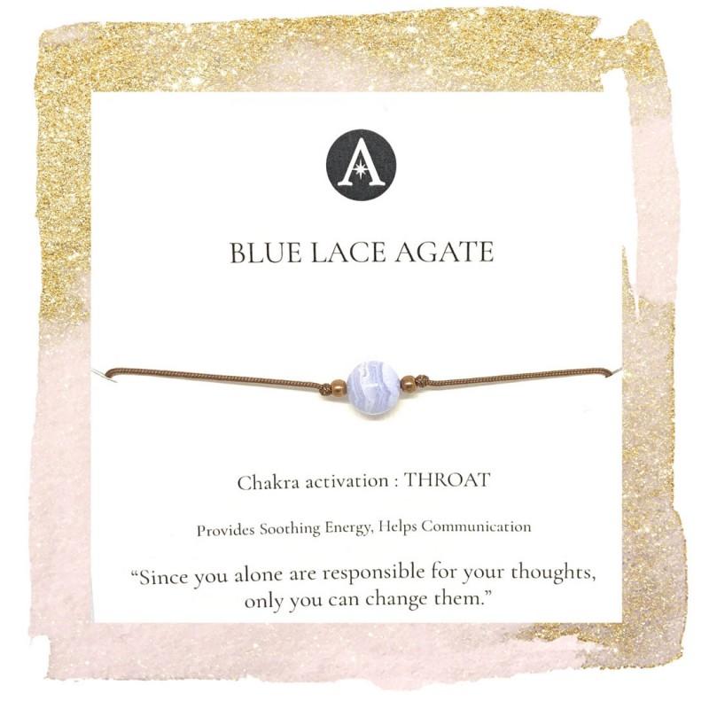 Blue Lace Agate Chakra Bracelet