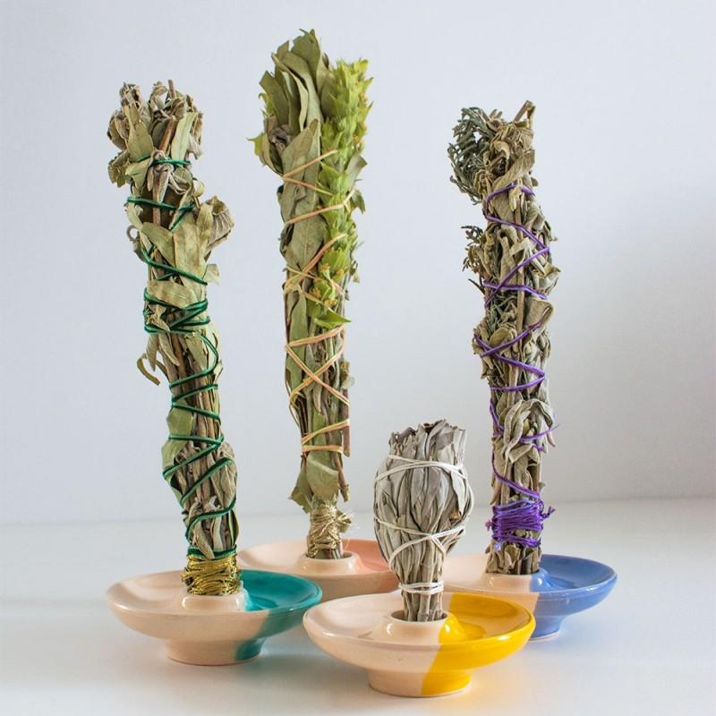 Rainbow Smudge - White sage, Ironwort and Eucalyptus